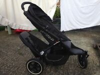 Phil&Teds double buggy with rain cover