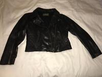 100% Leather Jacket Size 12
