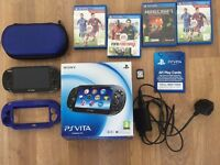 PS VITA CONSOLE WITH GAMES IN BOX XMAS GIFT