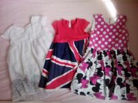 beautiful 3-4 years dresses, 6 items, very good condition