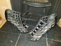 Stiletto heels black size 8