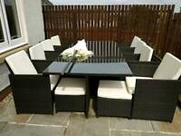 8 seat rattan garden furniture
