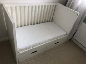 Ikea stuva cot bed toddler bed with mattress
