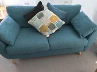 Next Wilson Teal Medium Sofa