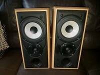 Mission 2 way speakers excellent condition all working hifi amp sound