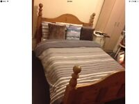 Double bed and matrass good condition and strong wood