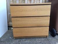 Ikea three-draw chest