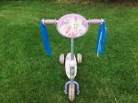 BARBIE FAIRYTOPIA SCOOTER, GOOD WORKING CONDITION ONLY £5.