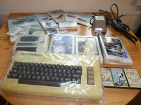 Commodore Vic-20 Computer Vintage Collectible with games.