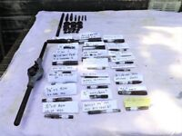 Job lot of Vintage / Antique Engineers Taps and dies plus more 44 Pieces in Total