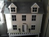 Dolls house, for hobby, 6 rooms, fully furnished and decorated with lighting and all accessories