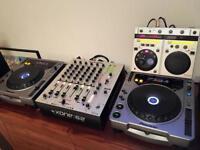 Allen & Heath Xone 62 DJ mixer, 2x Pioneer CDJ800 & EFX500. Full DJ setup!