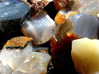 Natural Bazilian Agate Rough   3000 Carat Lots   Gemstone Rough Rocks  Tumbler