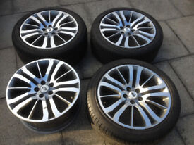 "for sale 4 off 20"" Range Rover alloys c/w 275/40/ R20 tyres"