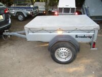 BRENDERUP 5-0 X 3-6 (600KG) DROPTAIL GOODS TRAILER WITH COVER...