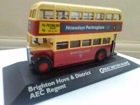 Brighton Hove & District AEC regent Bus great British buses diecast vehicle