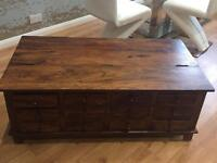Wooden coffee table / tv stand