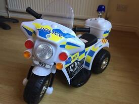 Electric ride on police bike - only used a couple of times RRP £70 - open to offers
