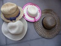 Ladies/young girls straw hats.