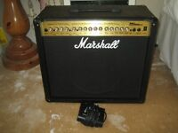 Marshall Amp MG100DFX Amplifier 100 Watts With Digital Effects C/W Footswitch
