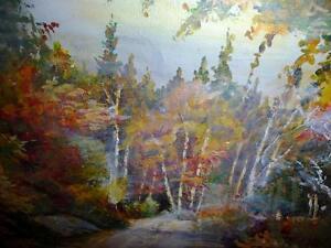 "Regina Hayward, Original Oil Painting ""Autumn Path"" Stratford Kitchener Area image 4"