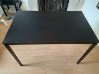 Black dining table IKEA TÄRENDÖ