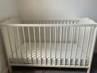 IKEA Baby Cot and Mattress - Great Offer £100