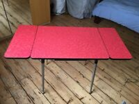 Vintage 1960's Red Formica Table