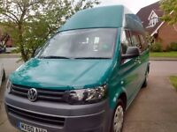 VW T5 Transporter camper van 2010 4-berth sleeping & 6-travel seats, recent conversion