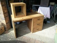 Desk and Side Table