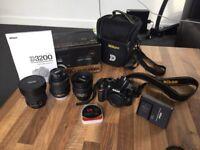 Nikon D3200 24.2MP DSLR - & 3 lenses!