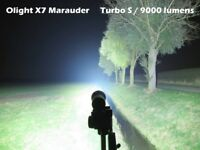 """Olight® X7 Marauder - 9,000 Lumens - LED Torch Smart Control Portable Flashlight - Waterproof..."""