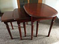 Mahogany colour Nested Table Set of 3