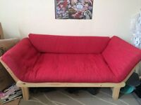 FUTON red single sofa bed [urgent]
