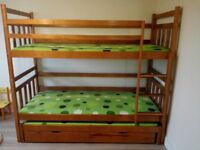 Kids bunk bed with underbed and two drawers