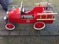 Vintage style fire engine