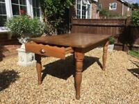 Marks & Spencer Pine dining table and 6 chairs + 2 side tables and cabinet.