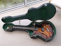 Hofner Guitar:Ambassador:Archtop:Vintage 1966:Electro-acoustic:Immaculate.