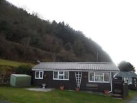 July / August chalet / caravan with sea view to let on Clarach Bay Holiday village Aberystwyth Wales
