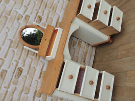 Dressing Table + Mirror Solid Pine (Delivery)