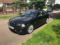 BMW 330 ci AUTO SPORT 2002 BLACK CREAM LEATHER 120k S HISTORY 07534349013