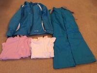 Ski Jacket, Sallopettes and Fleeces