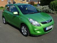 2010 HYUNDAI i20 COMFORT 1.2 PETROL AMAZING MPG CHEAP TAX AND INSURANCE LONG MOT