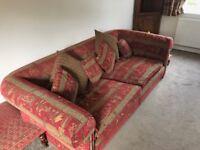 Duresta sofa, armchair and footstool