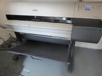 A0 Canon imagePROGRAF iPF700 printer complete with stand & paper rolls