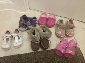 Bundle of girls shoes size 3 to 4
