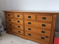 Solid Pine double chest of drawers, excellent condition, M&S