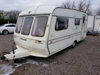 Buccanneer clipper 4 berth touring caravan bunk bed