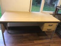 Large wood desk
