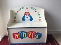 Painted child's toy chest